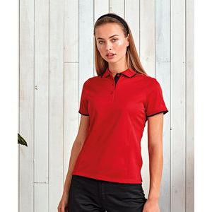 Women's contrast Coolchecker® polo Thumbnail