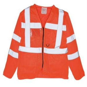 Hi-vis executive long sleeve waistcoat (HVJ800) Thumbnail