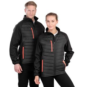 Black compass padded softshell jacket Thumbnail