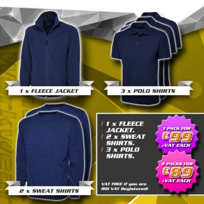 Pack 6 - (1) Fleece, (2) Sweatshirts, (3) Polos Thumbnail